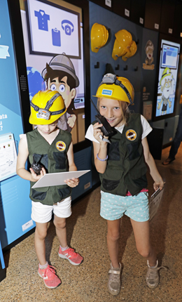 Kids can have fun exploring tools and techniques used for turtle research and conservation as part of the Turtle Tales self-guided experience. Photo: Queensland Government.