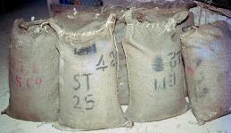 Bags of tin.