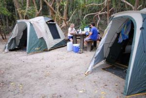 Camp at 25 locations in the Whitsunday islands. Photo: J Heitman.