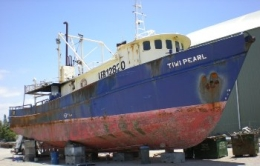 The Tiwi Pearl was sunk to become part of the Harry Atkinson Artificial Reef.