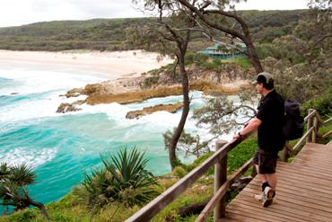 The Gorge Walk at Point Lookout is a must do for all visitors to Minjerribah. Photo: Queensland Government.