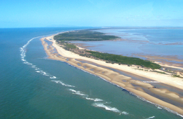 Cape Bowling Green with Burdekin declared Fish Habitat Area to the left and Bowling Green Bay declared Fish Habitat Area to the right