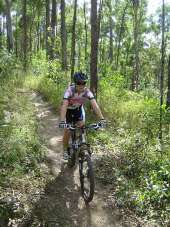 Enjoy a day out in the park, riding on one of many shared trails available for cyclists and horseriders. Photo: Ian Witheyman, Queensland Government