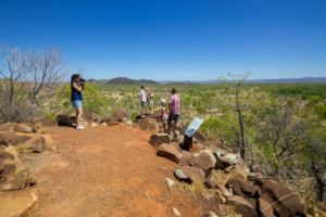 Image showing the geological landscape at the Chillagoe smelters lookout.
