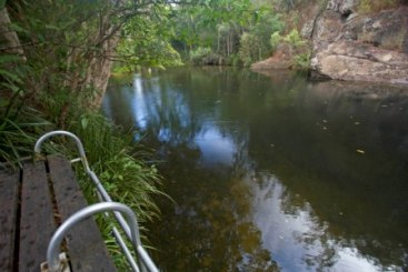 Swimming platform in the day-use area. Photo: Queensland Government