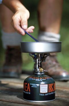 Image of a portable fuel stove which are light and easy to carry.