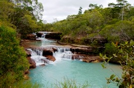 Twin Falls, Heathlands Regional Park. Photo: Adam Creed, Queensland Government.