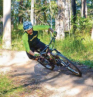 Rider on Milk Maid trail. Photo: courtesy Riley Taylor.