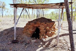 Charcoal burners used tea tree and ironbark fuel to produce charcoal for mine forges.