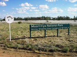 Moorrinya park entrance.