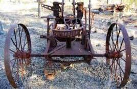 Old grader at Bell's bore. Photo: Eleanor Collins, Queensland Government