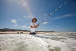 Beach fishing is a popular recreational activity. Photo: Queensland Government.