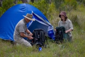 Remote bush camping in south D'Aguilar section, D'Aguilar National Park. Photo: Queensland Government.
