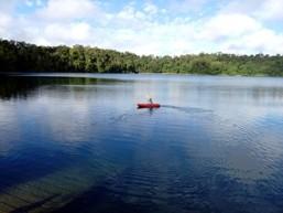Image of kayaking on Lake Eacham.