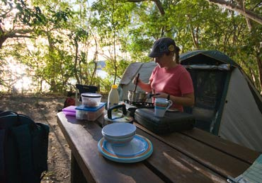 Camp and relax at one of many national park campgrounds. Photo: J Heitman.