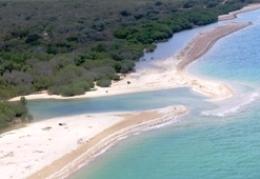 Tidal creek crossings along the beach near Cape Melville. Photo: Melisha McIvor, Queensland Government.