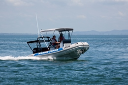 Rangers on patrol in Moreton Bay.