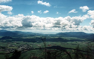 View from Walshs Pyramid over Gordonvale to the ocean. Photo: Tamara Vallance.