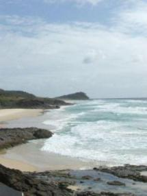 Looking northward to Waddy Point from Champagne Pools on Fraser Island.