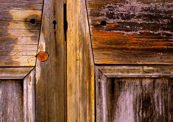 Close up of the door on one of the huts. Photos: Robert Ashdown