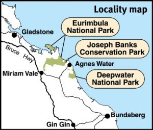 Deepwater National Park is located south of Agnes Water.