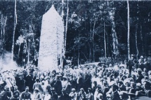 Opening of the Cunningham Highway at Cunninghams Gap, 1927. Photo: The Stockmans Hall of Fame.