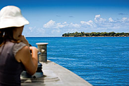 Catch a ferry over to Minjerribah to visit Naree Budjong Djara National Park. Photo: Queensland Government.