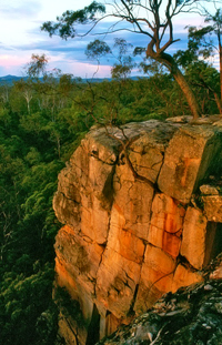 View from the Giant's Chair Lookout at dusk. Photo: Robert Ashdown, Queensland Government.
