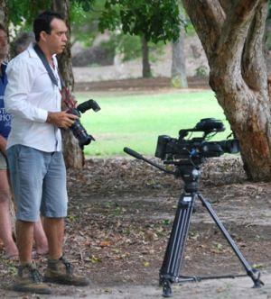 Luke Barrowcliffe, director of Goorie Vision. Photo: Matt Lowry, Queensland Government