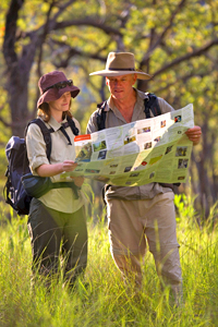 A copy of the QPWS Carnarvon Great Walk Topographic Map is essential for planning your Great Walk. Photo A. Creed, Queensland Government.