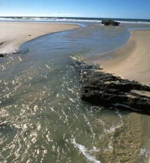 K'gari beaches change every day—be on the lookout for washouts and take care at creek crossings. Photo: Queensland Government