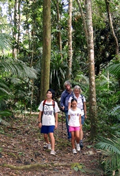 Walkers should be prepared with suitable shoes and clothing as well as drinking water and insect repellant. Photo: Julie Swartz, Queensland Government