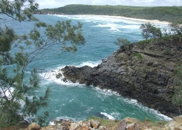 View of Hells Gates, Coastal Walk. Photo: Trevor Hatfield, Queensland Government.