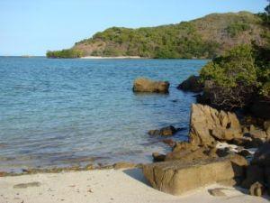 Ocean and beach at Wuthara Island National Park.