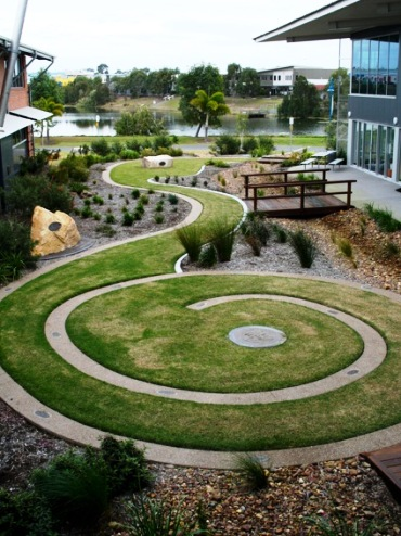 Aunty Olga Miller commemorative garden. Photo: University of Southern Queensland Fraser Coast campus