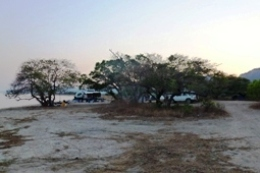 Camping in Crocodile camping area. Photo: Fran Mickan, Queensland Government.