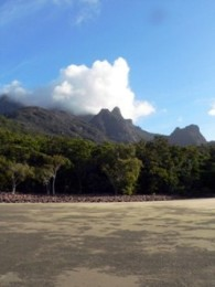 Mount Bowen is Hinchinbrook Island's highest peak. Photo: Tamara Vallance, Queensland Government