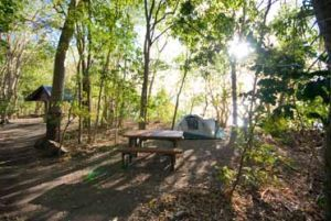 Dugong Beach camp. Photo: Queensland Government.