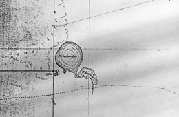An 1864 map of Lake Broadwater shows dense scrub to the west and the old wagon track running east-west (from Jondaryan) on the southern side of the lake. Courtesy of Lake Broadwater Natural History Association