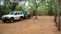 Image of a camp site at Eliot Falls camping area.