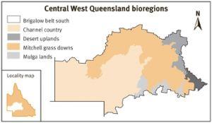 Central West Queensland bioregions map