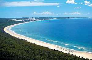 Image of north west over Orchid Beach. © Tourism and Events Queensland.