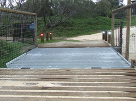 Dingo-deterrent grids and fences have been installed in high-risk areas.