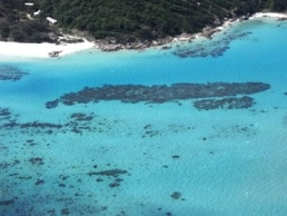 Image of Lizard Island which is surrounded by fringing reefs such as Loomis Reef.